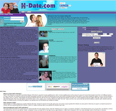 Herpes Dating Site - H-date.com